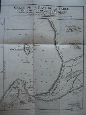 1749 - BELLIN - SOUTH AFRICA  Map TABLE BAY  CAPE TOWN  ROBBEN Island