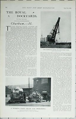 1902 Print Royal Dockyards Chatham Women Workers Flag Making ~ Armour Plate