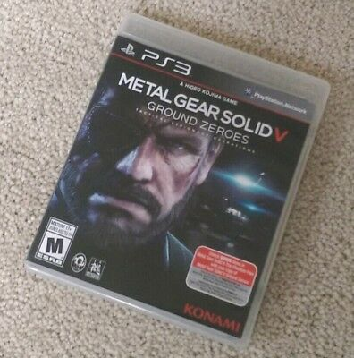 Metal Gear Solid 5: Ground Zeroes (PlayStation 3) Complete EXCELLENT LIKE NEW