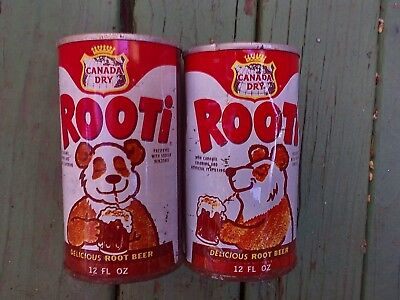 Rooti root beer soda cans