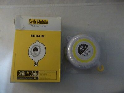 NEW. SHILOH Baby Crib Musical Mobile Battery-operated 60 Songs White