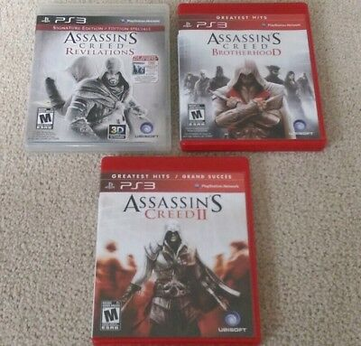 Assassin's Creed 2 Brotherhood Revelations Bundle (PlayStation 3) Complete GREAT