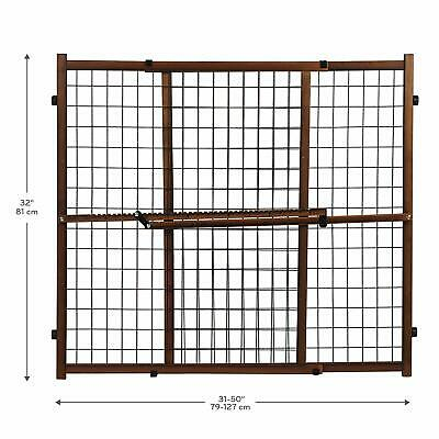Stair Baby Gate Infant Safety Door Wood Pet Dog Fence Adjustable Wide Cat Tall 1