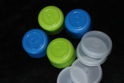 Tupperware Blue & Green SMIDGETS w/Sheer Seals~Set of 4~