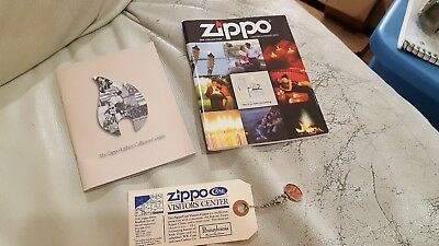ZIPPO CATALOG guide PAMPHLET LOT 2000 1993 visitors center KEYCHAIN