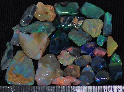 100 Cts Solid Gem Quality Lightning Ridge Rough And Rough Rubbed Opal Parcel 64