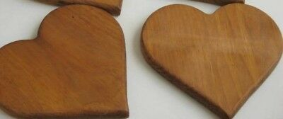 """2 Large  7.5"""" Wood Hearts 3/4"""" Thickness VALENTINE CRAFTS"""