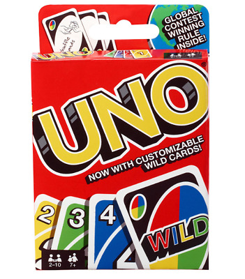 Mattel Games UNO Card Game New Travel Family Fun Playing Cards Free Shipping