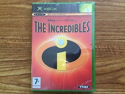 The Incredibles (Microsoft Xbox, 2004) Brand New Sealed PAL