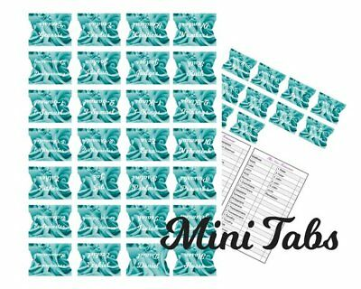 Bible Index Tabs Long Lasting book Divider Labels Turquoise Floral Full Set