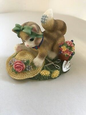 """2000 Calico Kittens """"The Earth Blossoms For You"""" Enesco 720674 2000"""