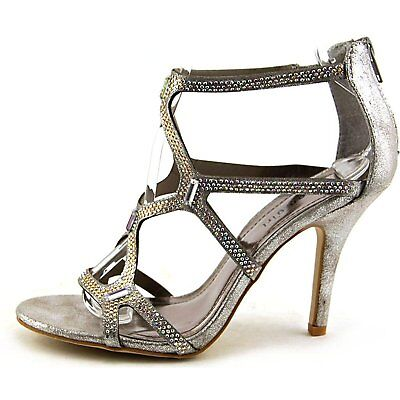 e1ddb9b854d Madden Girl Digitize Womens Heeled Sandals Silver Fabric 8 US   6 UK