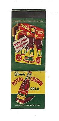 Royal Crown Cola   Matchcover  Soda    6 for 25 cents
