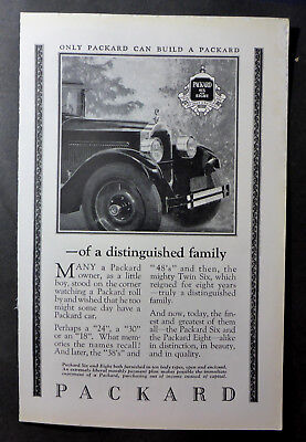 Vintage 1925 Packard Six And Eight Both Finished In Ten Body Types Old Advertise