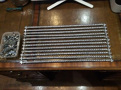 Polished Chrome 3/8 Inch Stair Carpet Rod Shamrock