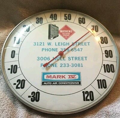 C. 50 MARK IV AC & RADIATOR advertising thermometer sign soda gas station oil