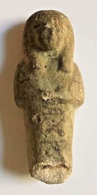 EGYPTIAN BICOLOR FAIENCE USHABTI 3rd INTERMIDIATE PERIOD