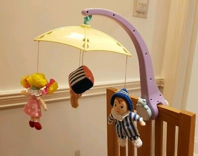 Baby Musical Cot Mobile - Andy Pandy, Lou Lou and Teddy