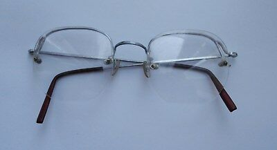 BNWOT Vintage 1970's Silver Wire Frame Men's Glasses Spectacles Clear Lens