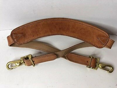 Hartmann All Leather Shoulder Strap Replacement Tan Luggage Carry On Bag