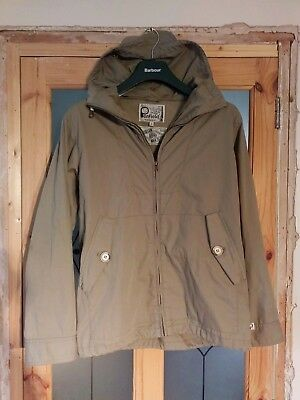 Penfield 'Gibson' Hooded Rain Jacket - Hudson Waxed Cotton - Medium - RRP £125