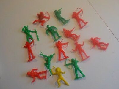 Vintage Antique lot of 70s 80s Plastic Horses Cowboys and Indians LARGE 3""