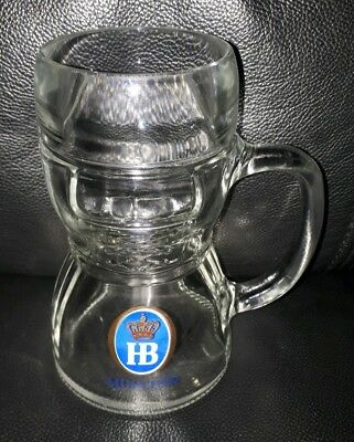 Collectable Drindl Hb Munchen 500Ml Beer Mug Glass Stein Good Used Condition