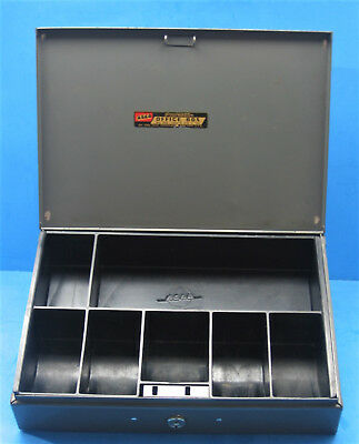 Vintage ASCO Steelmaster Lock Box w/ Cash Tray and Key Model No. F10