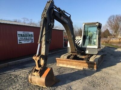 2013 Terex TC75 Midi Hydraulic Excavator w/ Cab Only 2100Hrs