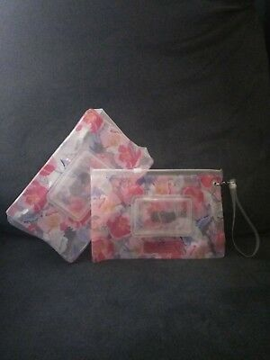 Wet Wipes Pouch Case Set of 2 (30 & 70 wipes) - Pink Floral