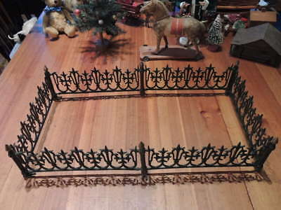 RARE 1800's Victorian Iron Fence for Feather Tree or Putz Vintage Antique