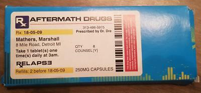 VERY VERY Rare Eminem Dr Dre Aftermath Relapse UK Promo Drugs Packet. Mints