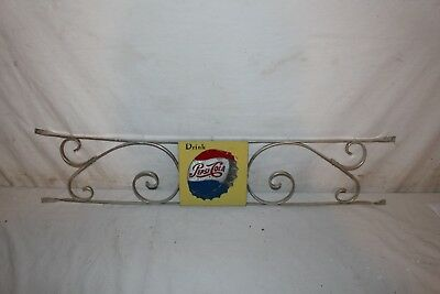"Vintage 1950's Pepsi Cola Soda Pop 34"" Embossed Metal Door Push Bar Sign"