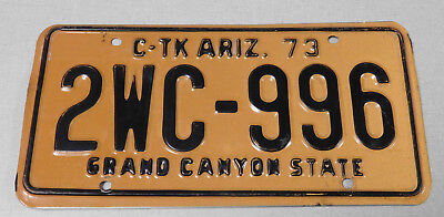 1973 Arizona commercial truck license plate