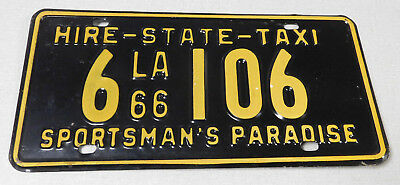 1966 Louisiana state taxi license plate