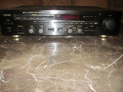 VINTAGE TEAC AG 75 AM FM Stereo Receiver W Owners Manual RC 75 Remote Antenna