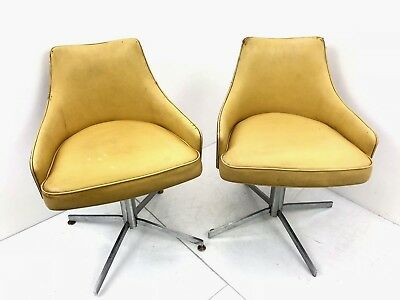 MILO BAUGHMAN For THAYER COGGIN Bent Ply Wood Swivel Chair Mid-Century