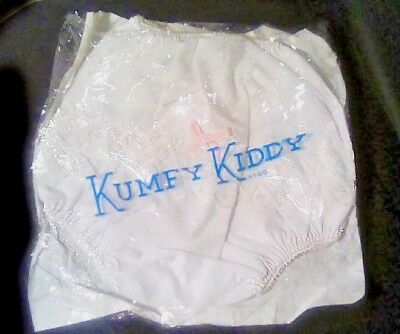 Vtg Shiny Lace Frilly Plastic Pvc Baby Or Reborn Pants Nappy Diaper Cover Mint L