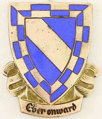 553rd Armored Infantry Battalion Crest DI/DUI Pinback German Made (Lauer)
