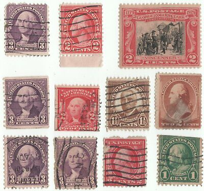 American old selection of stamps x 11used