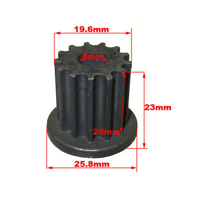 13 Tooth Gear Pinion Sprocket Belt Pulley Flat Mount For Scooter Electric Motor