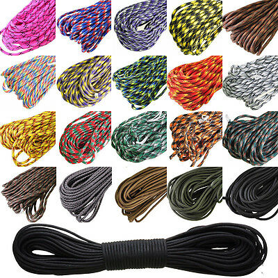 550 Paracord Parachute Cord Lanyard Mil Spec Type III 7 Strand Core100FT NEW 3&