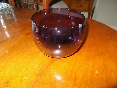 Georgian Amethyst Glass Finger Bowl