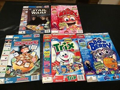 Lot of 5 General Mills Collectible Cereal Boxes