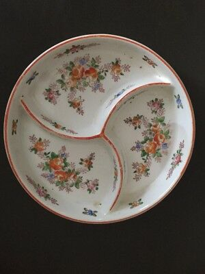 Antique grill plate - Japan - hand painted 7 inch size beautiful detail marked