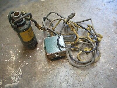 T A Pelsue Submersible Pump 1HP 1 Phase With Control; Box
