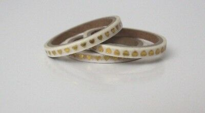 Washi Tape - Pack of 6 thin translucent tape with metallic gold hearts