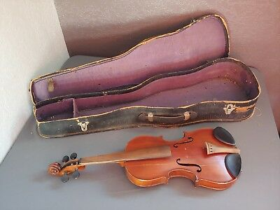 Antique Violin Made in Nippon Trademark 3/4 Size With Case
