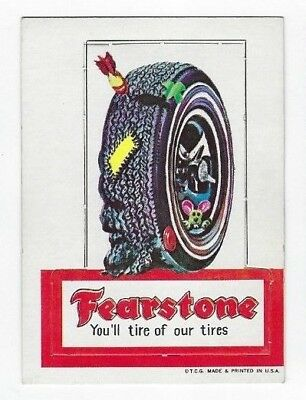 1967 Topps Wacky Packages DIE-CUT Series #2 FEARSTONE TIRES nm- o/c