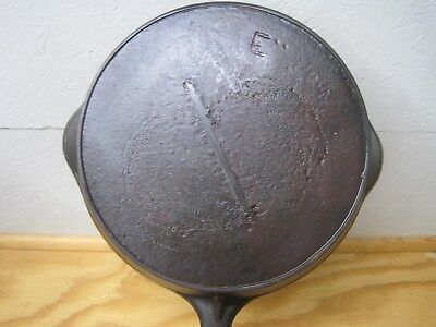 Late 1800's Erie (Griswold) Re-Cast Skillet Gate Marked Unknown Maker Restored